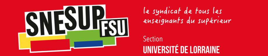 Section Snesup-FSU de l'université de Lorraine
